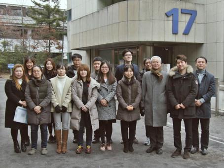 강병근 학생 환송회 단체사진