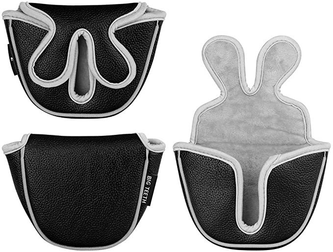 Big Teeth Golf Putter Head Covers-Black