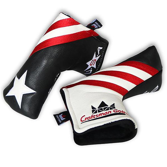 Golf Head Cover CM Putter Blade-Stripes&Star