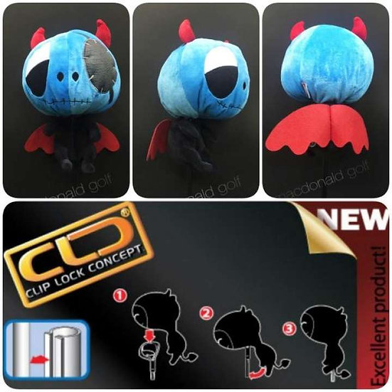 Cover Driver Mascot Devil Pirate Blue