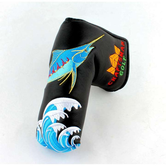 Golf Head Cover Putter Blade CM-Crab&Fish Black