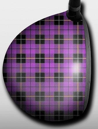 Plaid Purple and Black