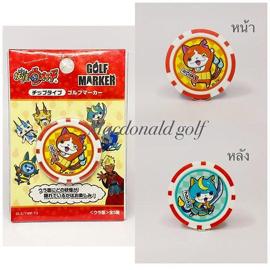 Golf Ball marker YO-KAI-WATCH แมวส้ม