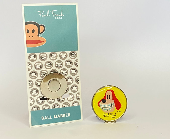 Paul Frank Dog Ball Marker - with Hat Clip