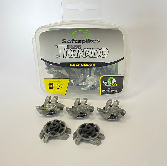 Softspikes Tornado Golf Tour Lock Cleats, Silver