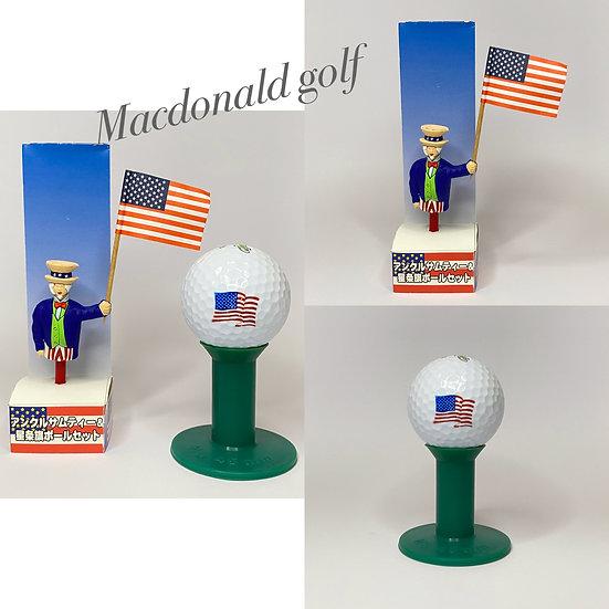 Golf Ball Set Flag USA