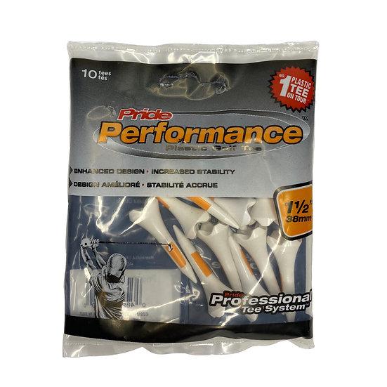 Pride Performance Plastic Golf Tee -1 1/2 10 ct