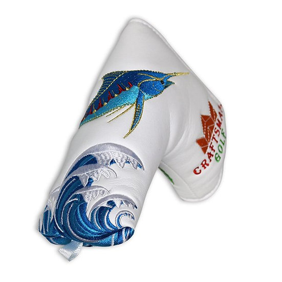 Golf Head Cover Putter Blade CM-Crab&Fish White