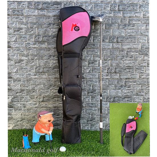 Half Set MG -กระเป๋าใส่ไม้กอล์ฟพับได้-Pink