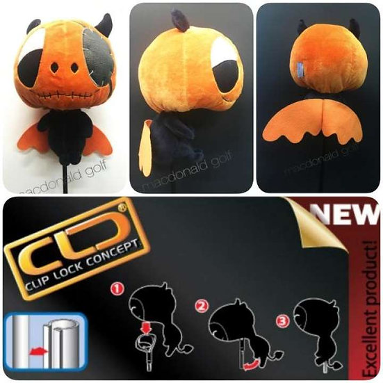 Cover Driver Mascot Devil Pirate Orange
