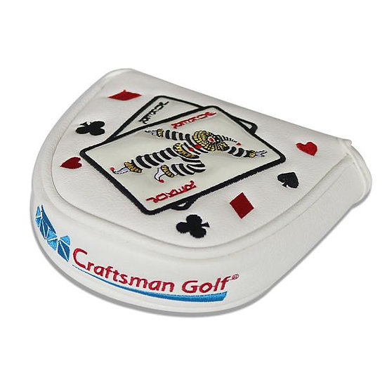 Golf Head Putter Cover Joker-White