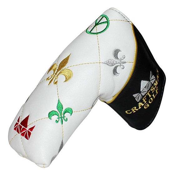 Golf Head Cover Putter Blade CM-Fleur De Lis-White