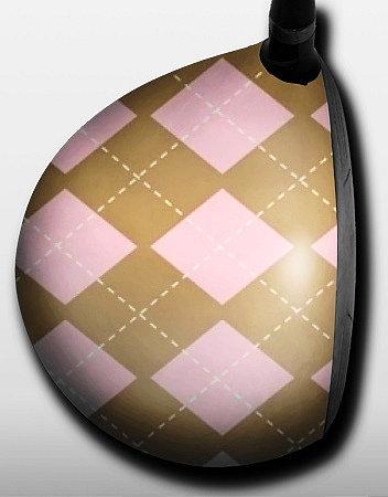 Argyle Pink and Tan