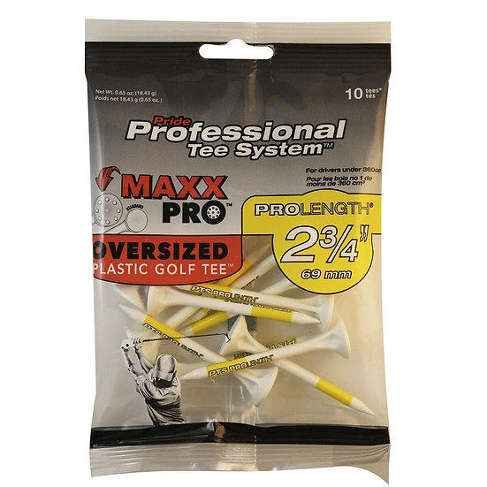 Pride PTS MAXX Pro Golf Tees-Y 2-3/4
