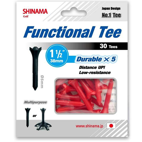 Golf Tee Distance up 38mm-Red