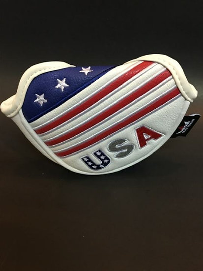 Cover CM For Putter Mallet U.S.A Ret&White&Bule (Small)