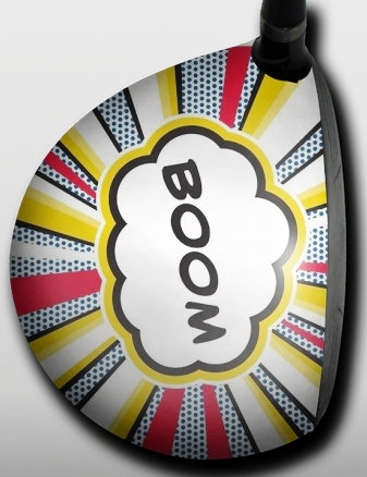 Big Wigz Skins: Right Hand Golf Driver Decal -Boom
