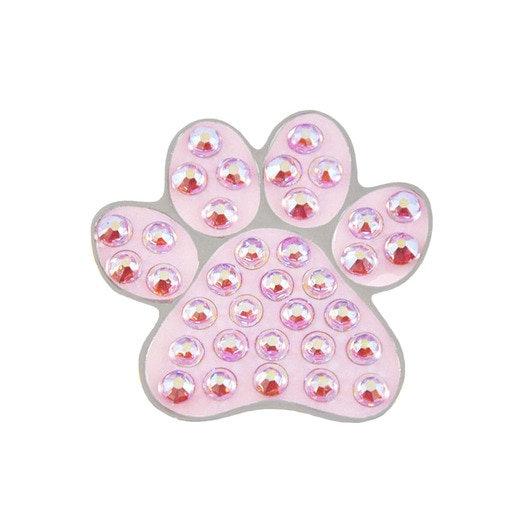 Navika อุ้งเท้าน้องหมา สีชมพู Ball Marker Crystals Swarovski® with Hat Clip
