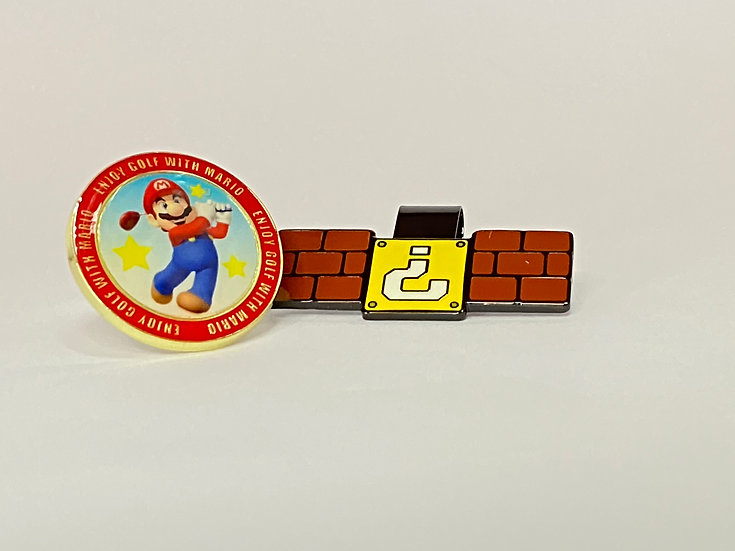 Golf ball marker SUPER MARIO - with Hat Clip