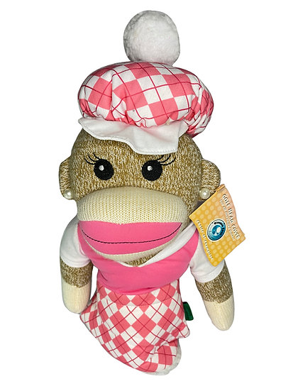 Golf Head Cover ANNA BANANA SOCK MONKEY HEADCOVER