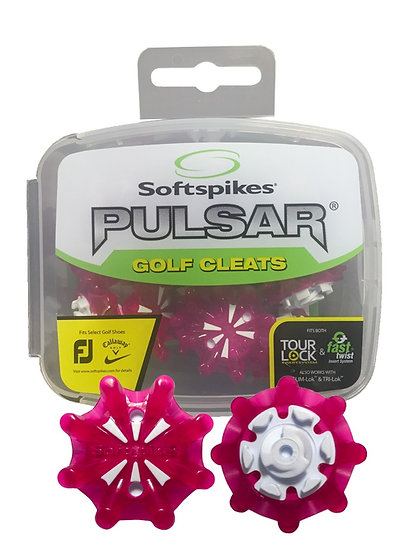 PULSAR GOLF CLEATS (FAST TWIST® 3.0) | BERRY/WHITE