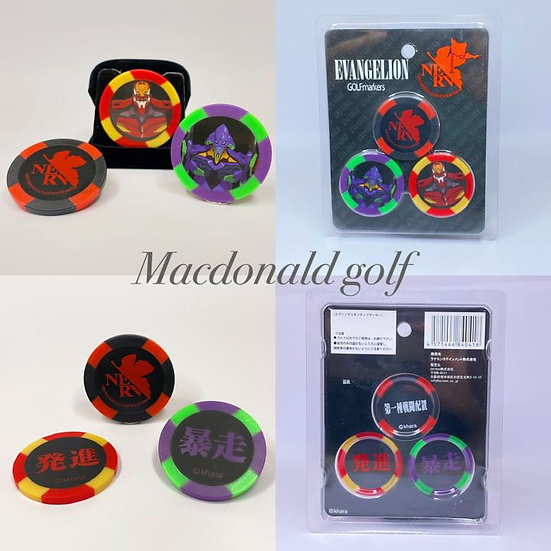 Golf chip marker EVANGELION-3 pieces set