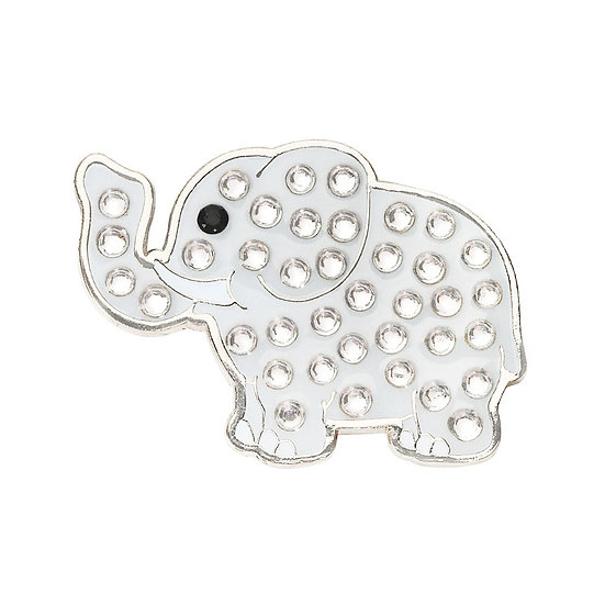 Navika Elephant Ball Marker with Crystals from Swarovski® - with Hat Clip