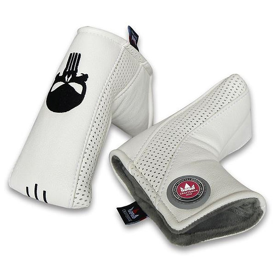 Golf Head Cover CM Putter Blade-Skull White