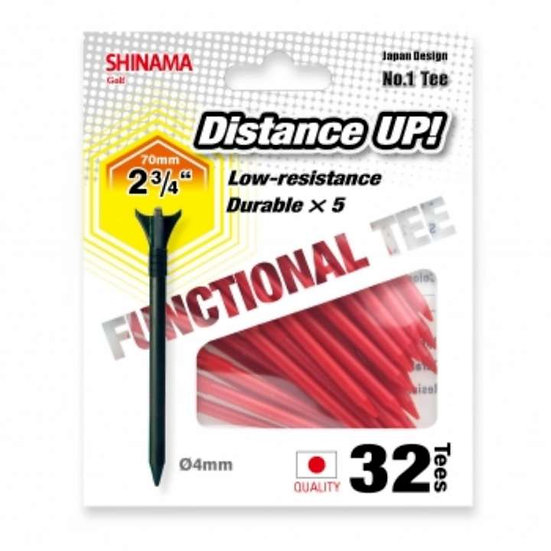 Golf Tee Distance up 70mm-Red