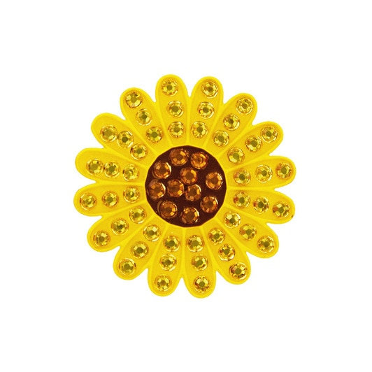 Navika Yellow daisies Ball Marker Crystals Swarovski® with Hat Clip