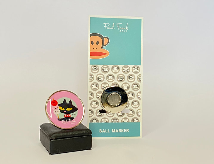 Paul Frank black cat Ball Marker - with Hat Clip