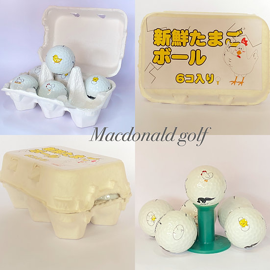 Golf Ball-ไก่ เซ็ต6ลูก