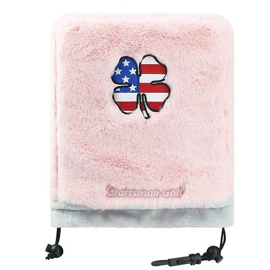 Pink Fur With Red&White&Blue Clover Iron Headcover