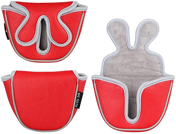Big Teeth Golf Putter Head Covers-Red