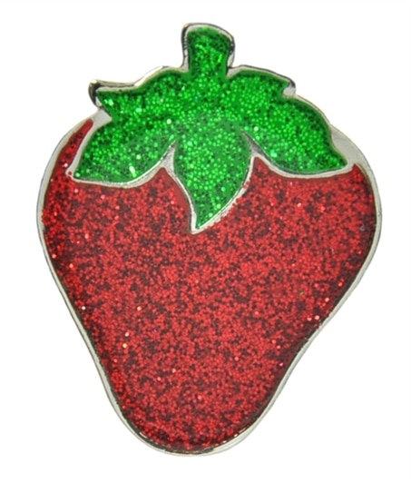 Navika strawberry Ball Marker Crystals Swarovski® with Hat Clip