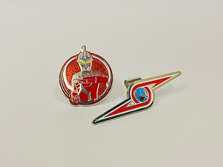 Golf ball marker Ultraman - with Hat Clip