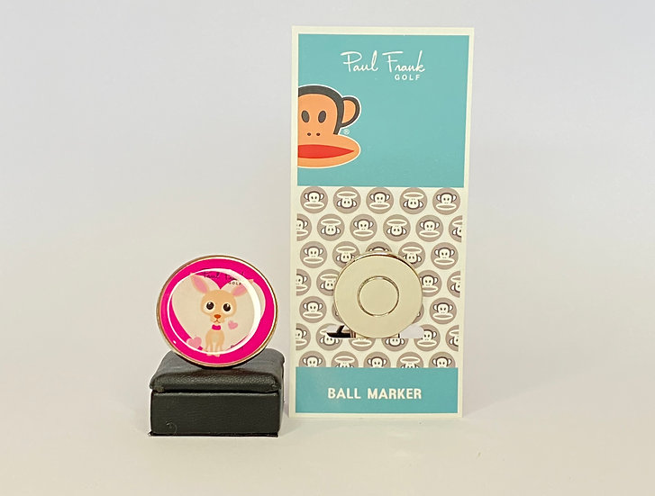 Paul Frank heart Ball Marker - with Hat Clip