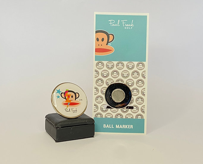 Paul Frank white Ball Marker - with Hat Clip