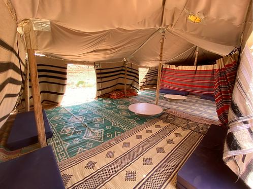 מפגש 14-16 בינואר 2021 - עד ארבעה משתתפים בחדר תחום מרווח ומחומם בתוך אוהל בדואי
