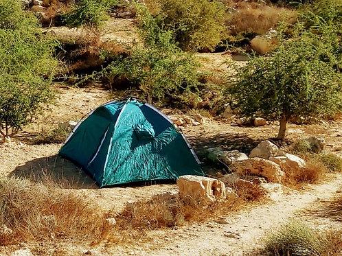 12/8/21 - תצפית + הקמת אוהל עצמאי בסוכה במדבר + ארוחות ערב ובוקר - מחיר לאדם
