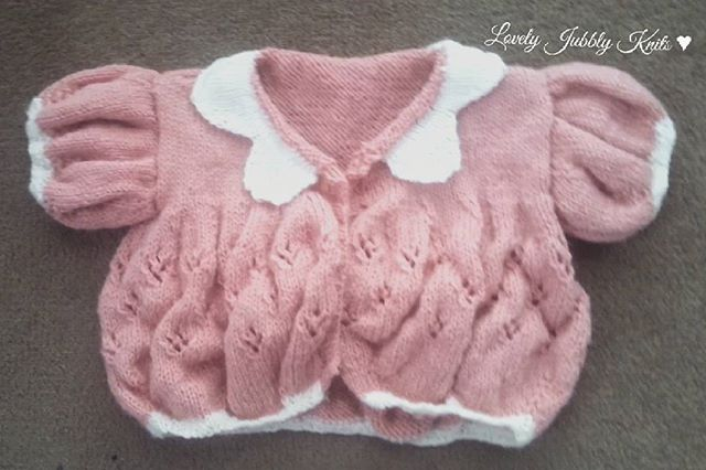 Lace cardigan for a toddler
