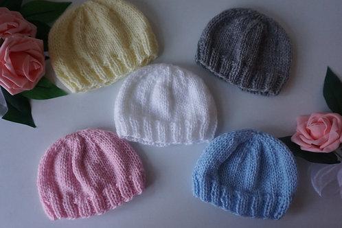 Hand Knitted Premature, Newborn, 0-3 Months Hat