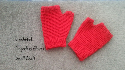 Simple Crocheted Fingerless Glove | Adult Small