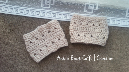 Ankle Boot Cuffs | Crochet