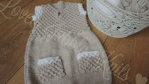 3-6 Months Knitted Dress - Long Sleeve Option Added