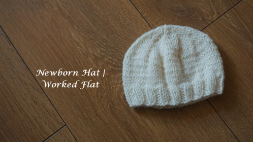 Newborn Hat | Worked Flat