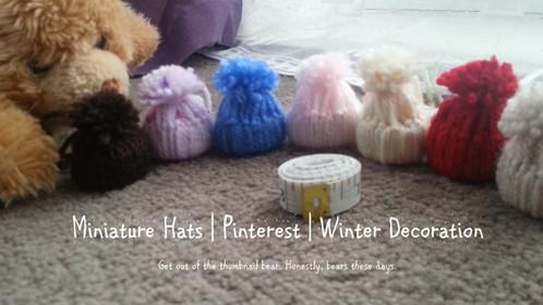 Miniature Decorative Hats | Pinterest | Winter Decoration