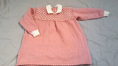 Simply Sweet Knitted Toddler Dress