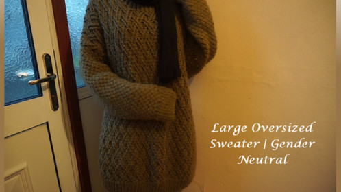 Large Oversized Sweater | Gender Neutral