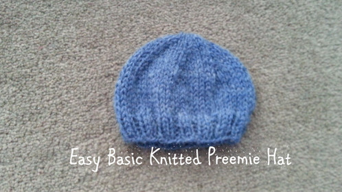 Easy Basic Knitted Preemie Hat